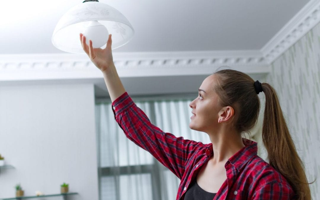 prepare for a home inspection by replacing burned out light bulbs